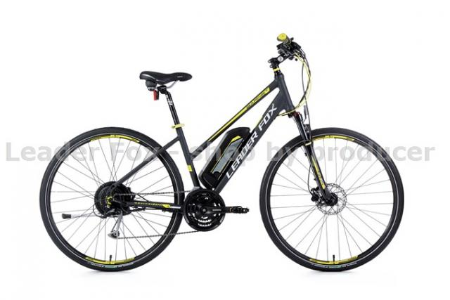Velo Electrique VTC Cross-BARNET Lady-Batterie 36V/14Ah-504 W- Grey matt/Yellow