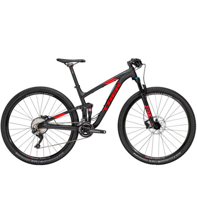 Velo VTT TS-Trek Top Fuel 8 (MY18)- Noir Matt/rouge